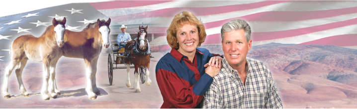 Redd Barney Ranch -Larry and Annette Barnes  - Clydesdale breeders in Reno, Nevada.